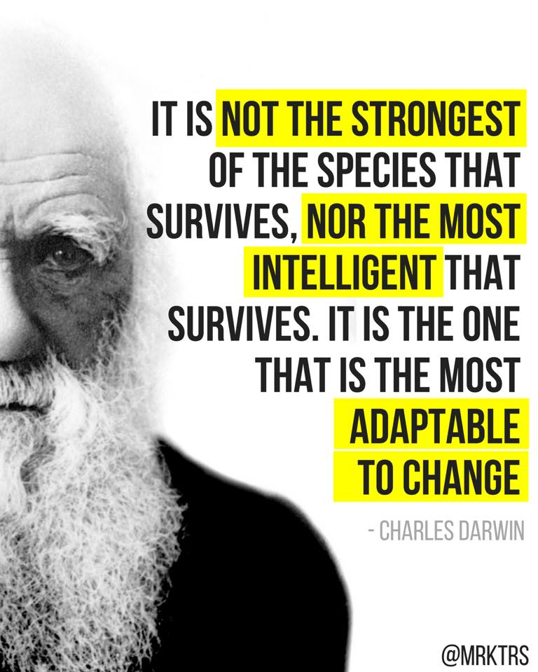 Darwin Quotes: Charles Darwin Strongest Species Quote